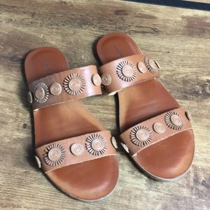 Lucky Brand LK-Adalyn leather brown sandals